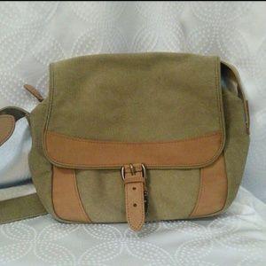 L.L. Bean Cross Body Canvas Messenger Bag Vintage